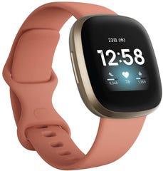 Fitbit Versa3 Alexa搭載/GPS搭載 スマートウォッチ Pink Clay ピンククレイ