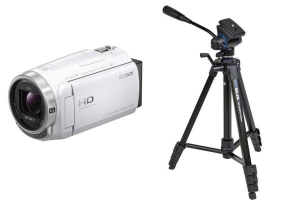 SONY ビデオカメラ HDR-CX680 ビデオカメラ用三脚 GX6400 Video セット
