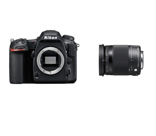 NIKON D500とシグマの便利ズームレンズ(18-300mm)のセット 一眼レフ