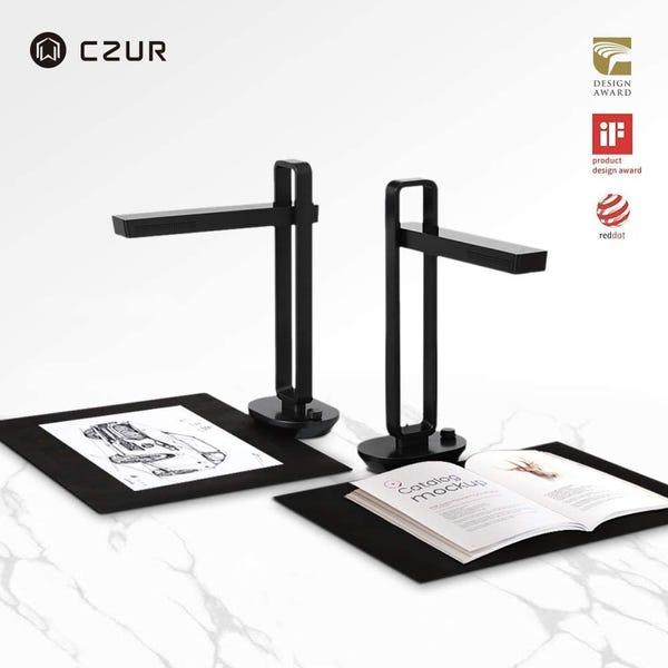 CZUR Aura X Pro ドキュメントスキャナー 非破壊 ブックスキャナー OCR機能 LED デスクライト兼用