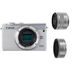 CANON EOS M100 ダブルレンズキット ミラーレス一眼 ホワイト