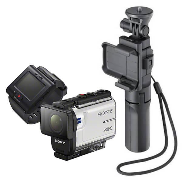 ソニー FDR-X3000R 定番のマウントセット (カメラグリップ)