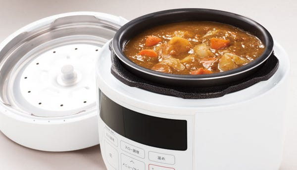 [新品] siroca 4L 電気圧力鍋 SP-4D151-W ホワイト