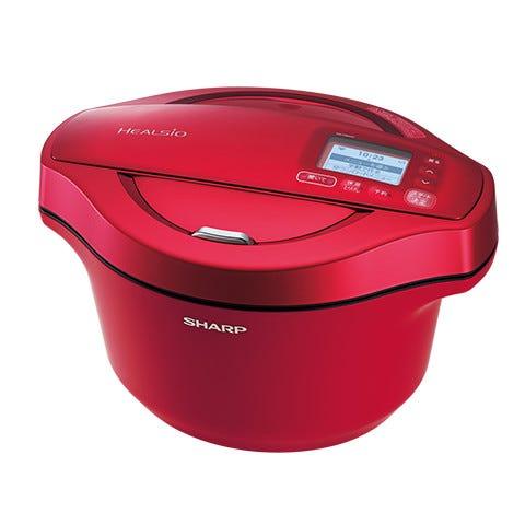 シャープ ヘルシオ ホットクック 水なし自動調理鍋 KN-HW24C-R