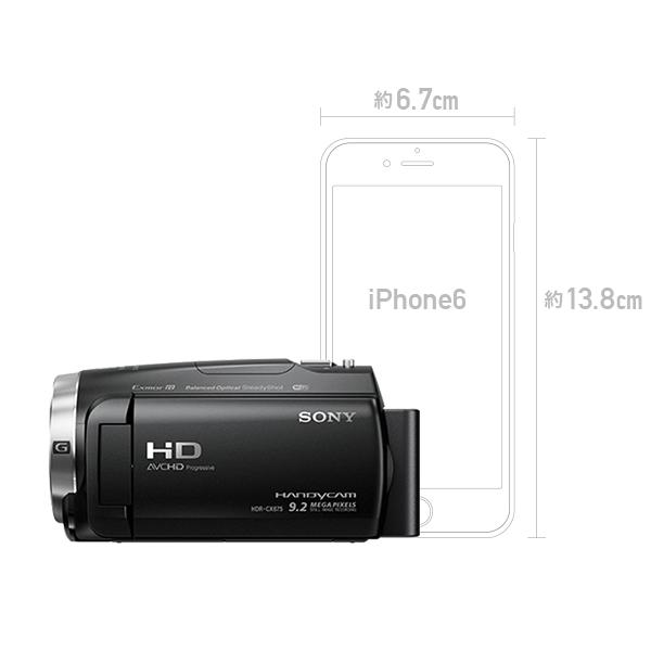 SONY ビデオカメラ HDR-CX485 ブラック