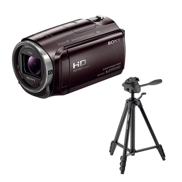 SONY ビデオカメラ HDR-CX675 ブラウン& 三脚 EX-440 セット