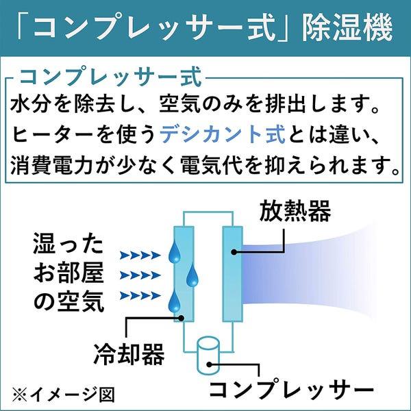 コロナ 衣類乾燥除湿機 除湿量18L エレガントブルー CD-H18A(AE)