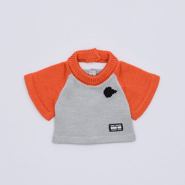 【ロビ専用】 ニットTシャツ アポロオレンジ&シルバーグレー