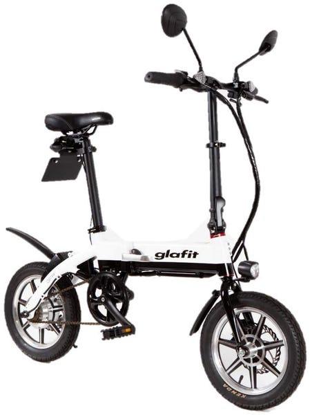glafitバイク GFR-01 漕げる折りたたみ電動バイク ホワイトツートン