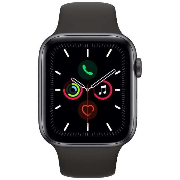 Apple Watch Series 5(GPSモデル)- 40mm スペースグレイアルミニウムケースとブラックスポーツバンド MWV82JA