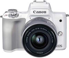 CANON EOS Kiss M2 EF-M15-45 IS STM レンズキット ミラーレス一眼 ホワイト