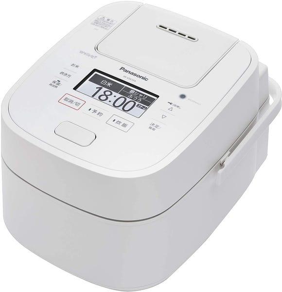 パナソニック 炊飯器 5.5合 スチーム&可変圧力IH式 Wおどり炊き ホワイト SR-VSX109