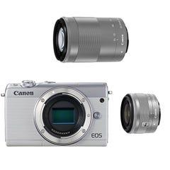 CANON EOS M100 ダブルズームキット ミラーレス一眼 ホワイト