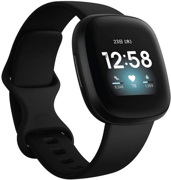 [新品] Fitbit Versa3 Alexa搭載/GPS搭載 スマートウォッチ Black ブラック