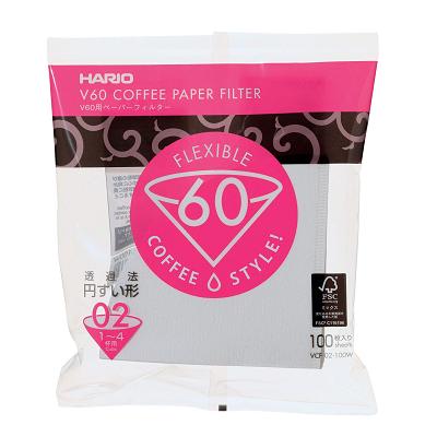 [販売] HARIO V60用ペーパーフィルター02 W 100枚