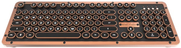 AZIO Bluetooth/USB有線接続 タイプライター式 キーボード アーティサン