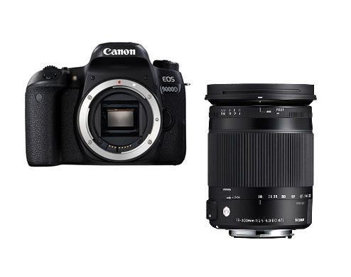 CANON EOS 9000Dとシグマ便利ズームレンズ(18-300mm)のセット 一眼レフ