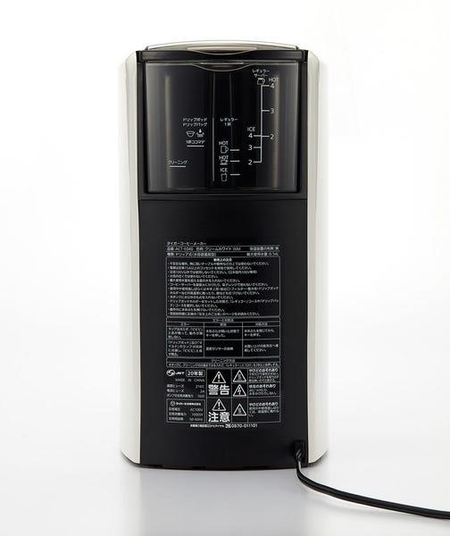 タイガーのコーヒーメーカー ACT-E040の背面