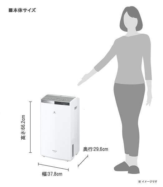 Panasonic ハイブリッド方式 衣類乾燥除湿機 (木造19畳/プレハブ29畳)F-YHRX200