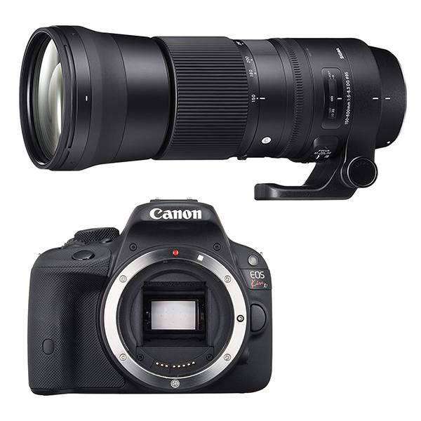 CANON EOS Kiss X7 ボディ 一眼レフ と Sigma 150-600mm F5-6.3 DG OS HSM Contemporary (キヤノンEFマウント) セット