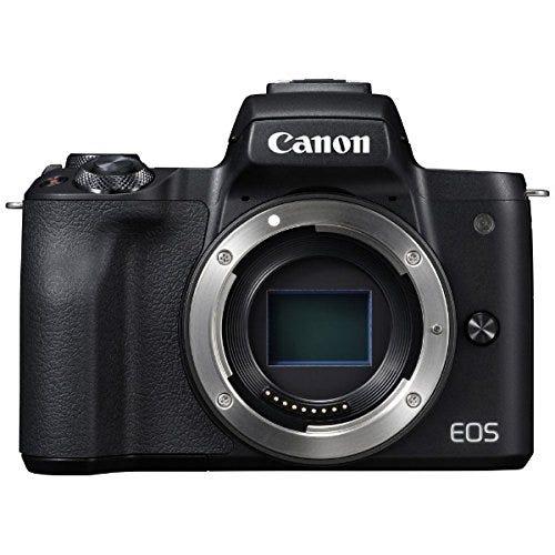 CANON EOS Kiss M 単焦点レンズセット ブラック ミラーレス一眼