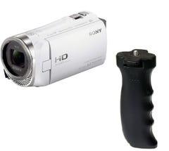SONY ビデオカメラ HDR-CX480 ホワイト バッテリーグリップGP EM-L5000BGP セット