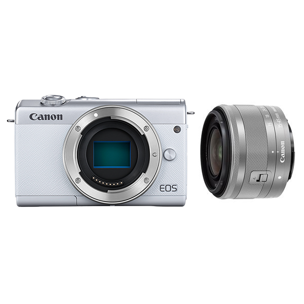 CANON EOS M200 レンズキット ホワイト ミラーレス一眼