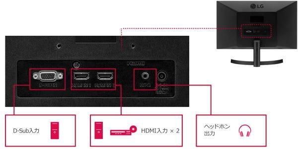 LG PCモニター ディスプレイ  21.5インチ/フルHD/IPS 非光沢 22MK600M-B