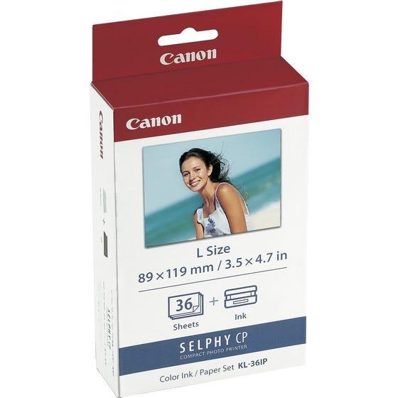 [販売] キヤノン CANON カラーインク/ペーパーセット (Lサイズ・36枚分) KL-36IP