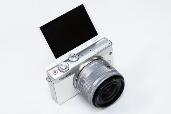 CANON EOS M100 レンズキット ミラーレス一眼 ホワイト