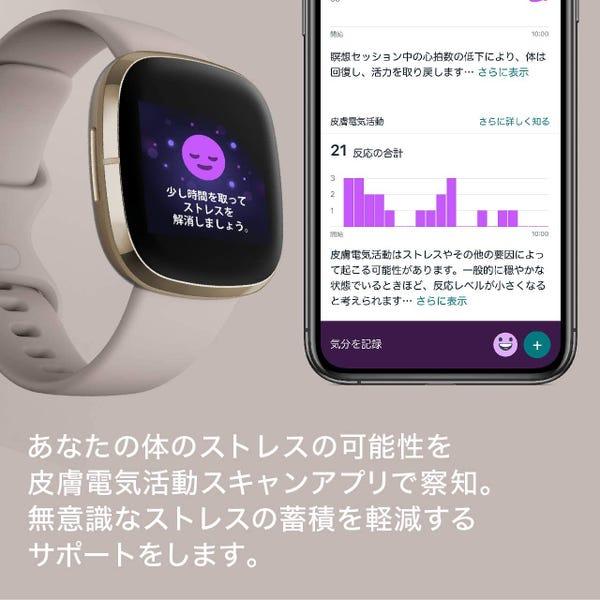 Fitbit Sense Alexa搭載/GPS搭載 スマートウォッチ Carbon/Graphite カーボン/グラファイト