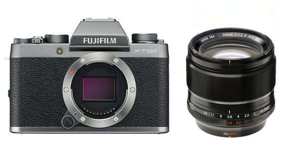 FUJIFILM X-T100 XF56mm F1.2 R 単焦点レンズセット [レンティオおすすめセット]