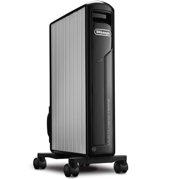 デロンギ マルチダイナミックヒーター MDH12-BK(ピュアホワイト+マットブラック)1200W 8~10畳 暖房