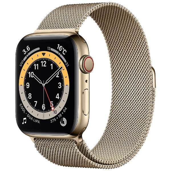 [新品]Apple Watch Series 6(GPS + Cellularモデル)- 44mmゴールドステンレススチールケースとゴールドミラネーゼループ