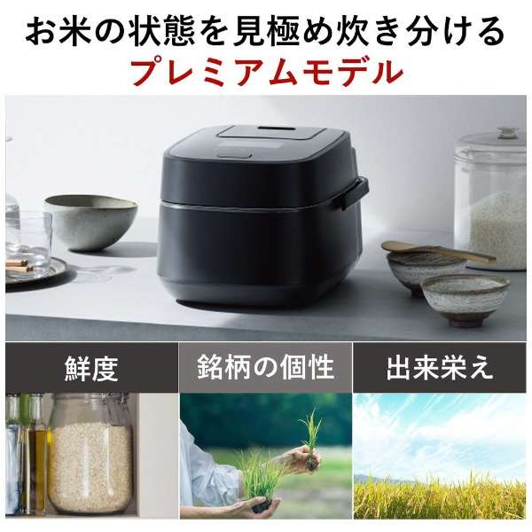 パナソニック 炊飯器 5.5合 スチーム&可変圧力IHジャー炊飯器 大火力おどり炊き ブラック SR-VSX101-K