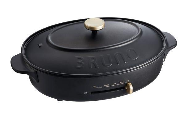 BRUNO オーバルホットプレート BOE053 本体 プレート3種(たこ焼き/深鍋/平面)