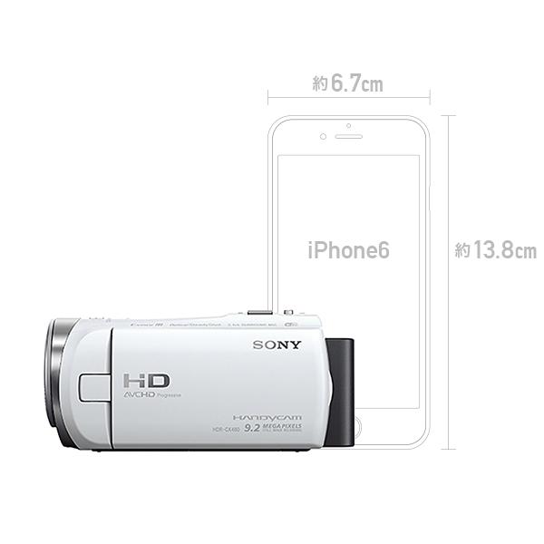 SONY ビデオカメラ HDR-CX480 ホワイト