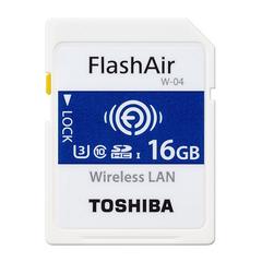 TOSHIBA FlashAir Wi-Fi SDHCカード 16GB Class10対応