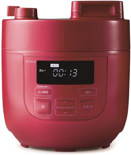 siroca 4L 電気圧力鍋 SP-4D151-R レッド