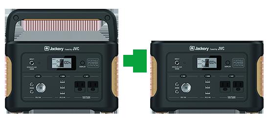 JVCケンウッド ポータブル電源 たっぷり大容量タイプ BN-RB6-C 容量626Wh AC・USB・シガーソケットポート搭載