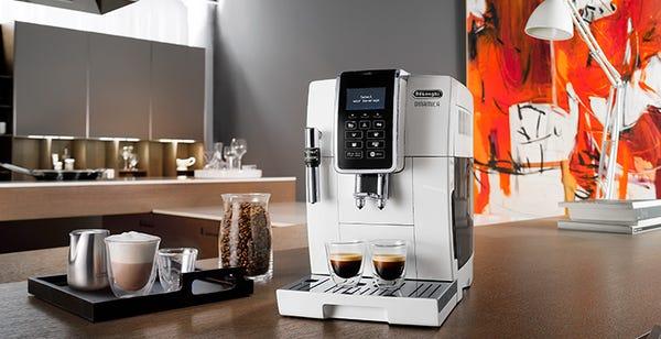 デロンギ ディナミカ コンパクト全自動コーヒーメーカー ECAM35035W
