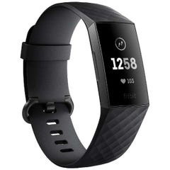 Fitbit フィットネスリストバンド Charge3 Large Black