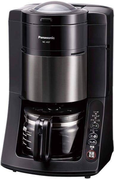 Panasonic パナソニック 全自動コーヒーメーカー ミル付き NC-A57-K