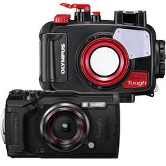 OLYMPUS 水中カメラ TG-6 Tough 水深45m防水ハウジング(PT-059)セット