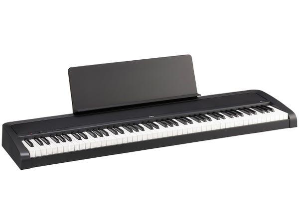 KORG B2 ブラック 電子ピアノ [ダンパーペダル、譜面立て付き]
