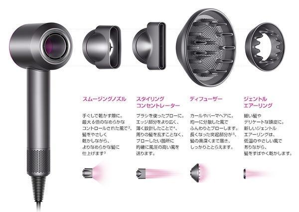 [販売][新品]ダイソン ヘアードライヤー Super Sonic Ionic HD03 ULF(ブラック)