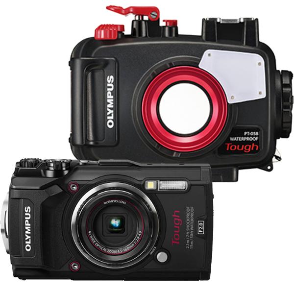 OLYMPUS 水中カメラ TG-5 Tough 水深45m防水ハウジング(PT-058) セット