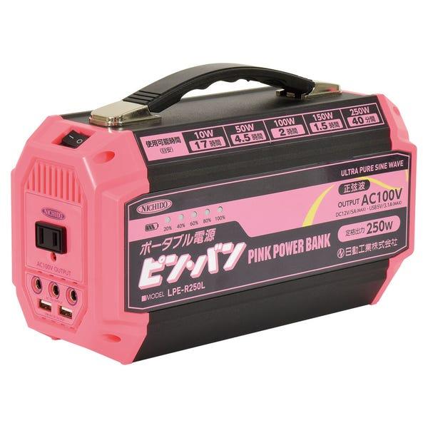 日動工業 NICHIDO ポータブル電源 ピンバン LPE-R250L(屋内型/MAX250W)