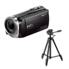 SONY ビデオカメラ HDR-CX485 ブラック& 三脚 EX-440 セット