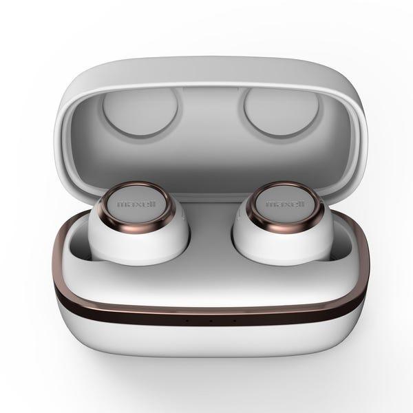 [新品] マクセル Bluetooth対応ワイヤレスカナル型ヘッドホン ホワイト MXH-BTW1000   [もらえるレンタル®]